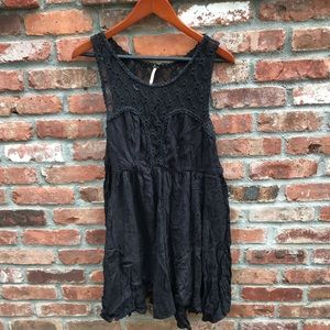 Free people black lace and cotton dress